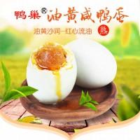 湖鸭巢牌咸鸭蛋蛋黄松沙流油自己吃好蛋选大个≥60克每箱30枚