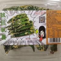 味达蕾牌拔丝秋葵108克透明盒装甜蔬菜脆琉璃制品
